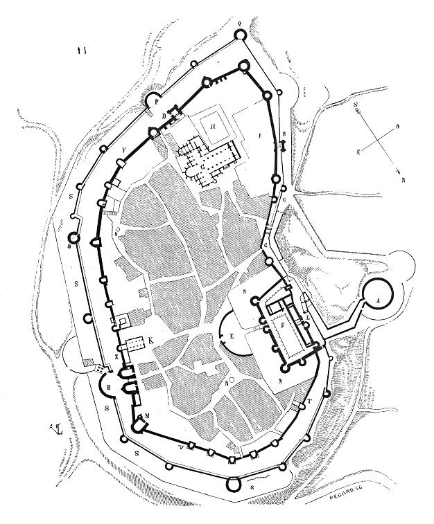 Ciudad medieval de Carcassonne en el siglo XIII