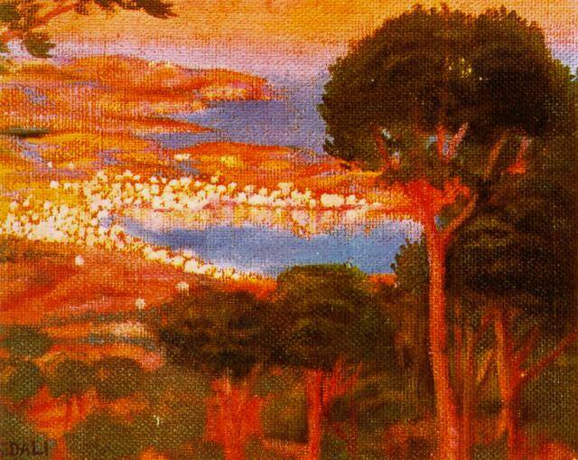 SALVADOR DALI – 1917 – 01 – View of CadaquNs with Shadow of Mount Pani 1917
