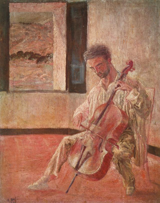 SALVADOR DALI – 1920 – 06 – Portrait of the Violoncellist Ricardo Pichot 1920