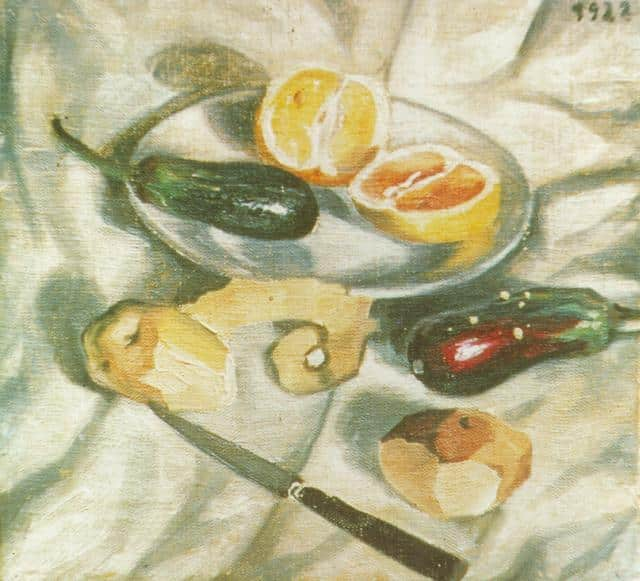 SALVADOR DALI – 1922 – 19 – Still Life with Aubergines 1922