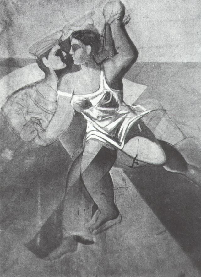 SALVADOR DALI – 1926 – 20 – Venus and Sailor (Girl and Sailor; Unfinished) 1926