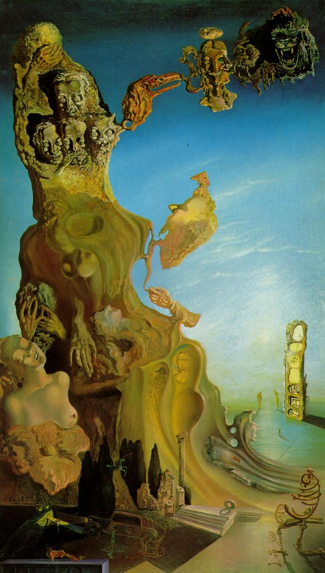 SALVADOR DALI – 1929 – 06 – Imperial Monument to the Child-Woman 1929