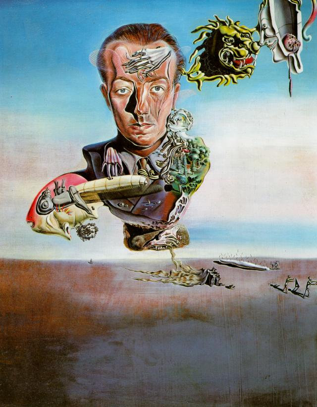 SALVADOR DALI – 1929 – 10 – Portrait of Paul Eluard 1929