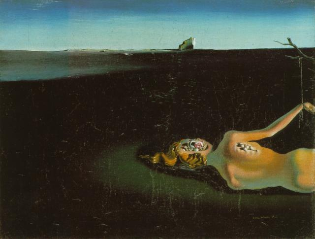 SALVADOR DALI – 1931 – 08 – Woman Sleeping in a Landscape 1931