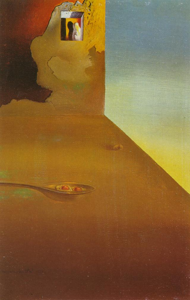 SALVADOR DALI – 1932 – 15 – The Meeting of the Illusion and the Arrested Moment – Fried Eggs Presented in a Spoon 1932