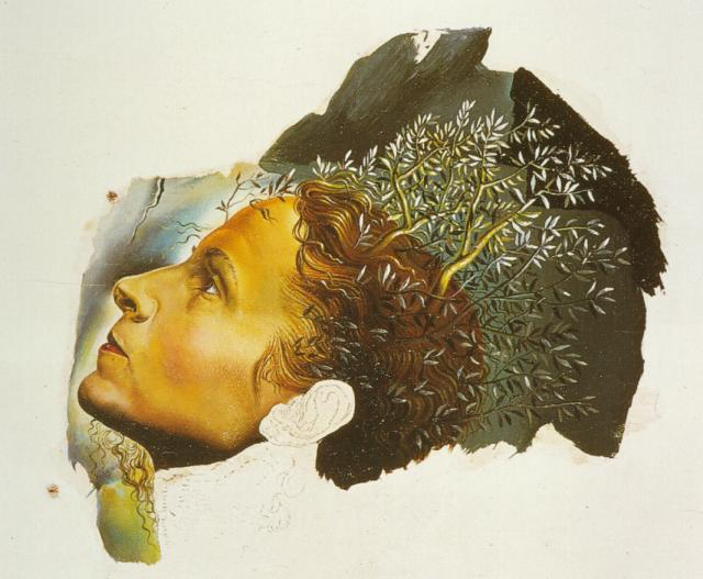 SALVADOR DALI – 1932 – 42 – Automatic Beginning of a Portrait of Gala (unfinished) 1932