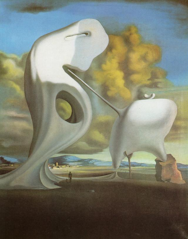 SALVADOR DALI – 1933 – 03 – The Architectural Angelus of Millet 1933