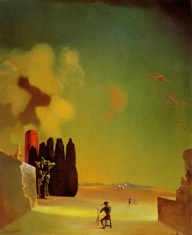 SALVADOR DALI – 1934 – 05 – Enigmatic Elements in the Landscape 1934