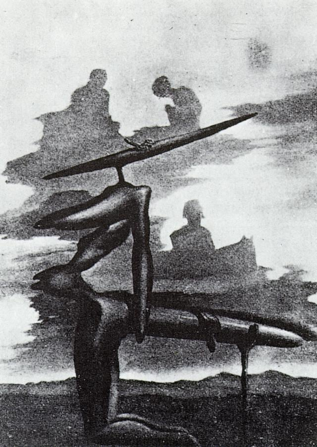 SALVADOR DALI – 1934 – 36 – The Spectre of the Angelus circa 1934