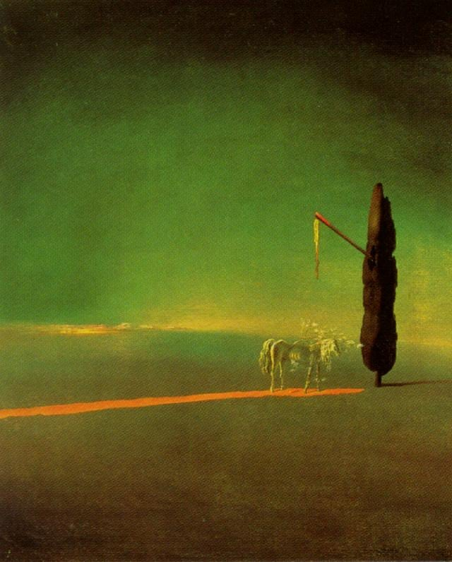 SALVADOR DALI – 1934 – 60 – Eclipse and Vegetable Osmosis 1934