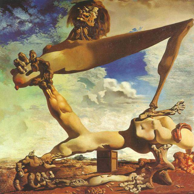 SALVADOR DALI – 1936 – 11 – Soft Construction with Boiled Beans – Premonition of Civil War 1936