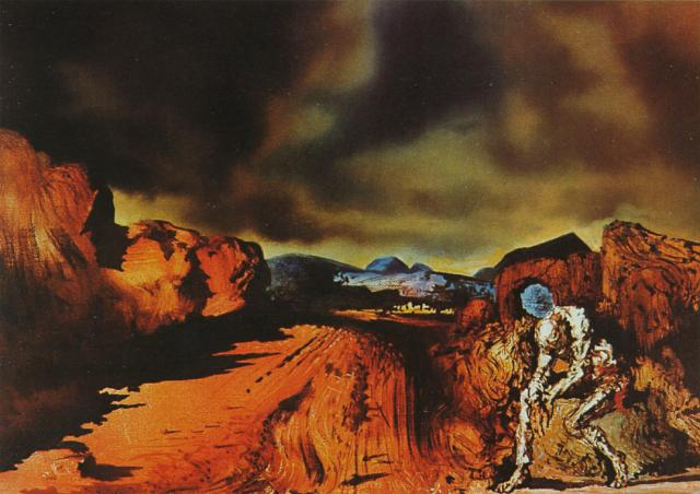 SALVADOR DALI – 1936 – 17 – The Man with the Head of Blue Hortensias 1936