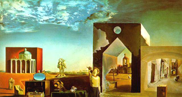 SALVADOR DALI – 1936 – 21 – Suburbs of a Paranoiac-Critical Town; Afternoon on the Outskirts of European History 1936