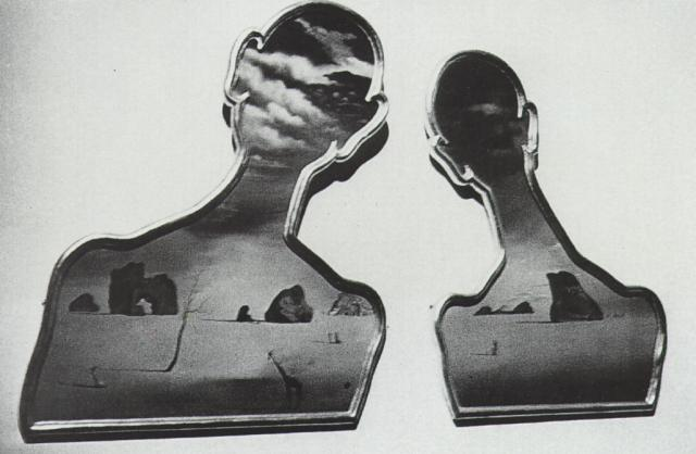SALVADOR DALI – 1936 – 52 – A Couple with Their Heads Full of Clouds 1936