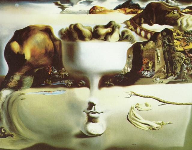 SALVADOR DALI – 1938 – 01Apparition of Face and Fruit Dish on a Beach 1938