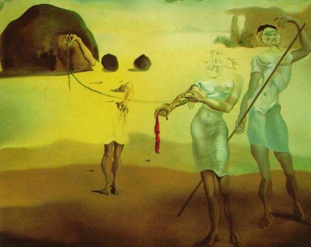 SALVADOR DALI – 1938 – 03-Enchanted Beach with Three Fluid Graces 1938