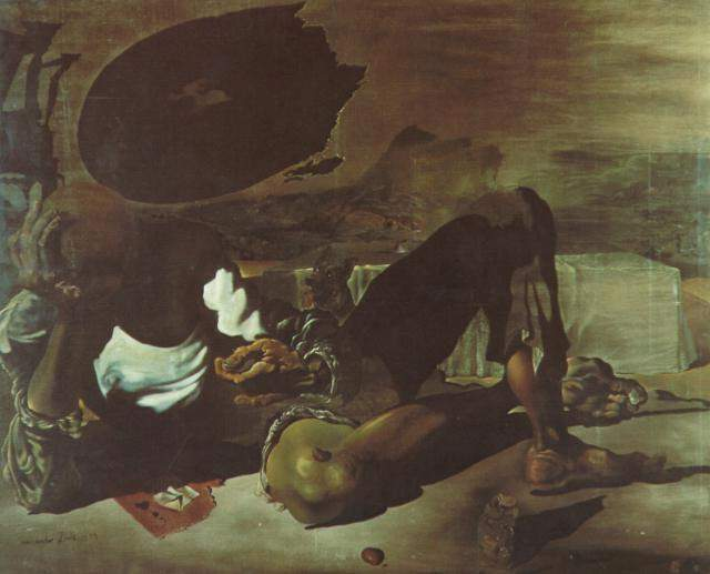 SALVADOR DALI – 1939 – 03 – Philosopher Illuminated by the Light of the Moon and the Setting Sun 1939