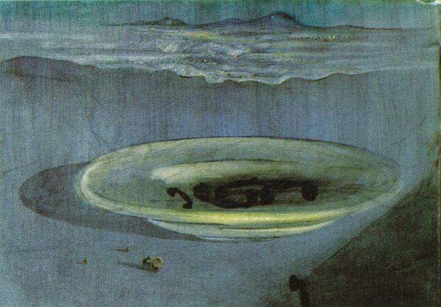 SALVADOR DALI – 1939 – 19 – Landscape with Telephones on a Plate 1939
