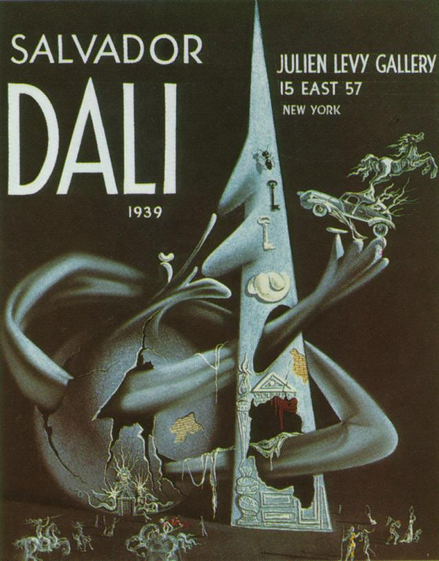 SALVADOR DALI – 1939 – 20 – The Sphere Attacks the Pyramid. Cover of the Catalogue of the Exhibition at Julien Levy's in New York. 1939