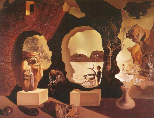 SALVADOR DALI – 1940 – 04 – Old Age Adolescence Infancy (The Three Ages) 1940