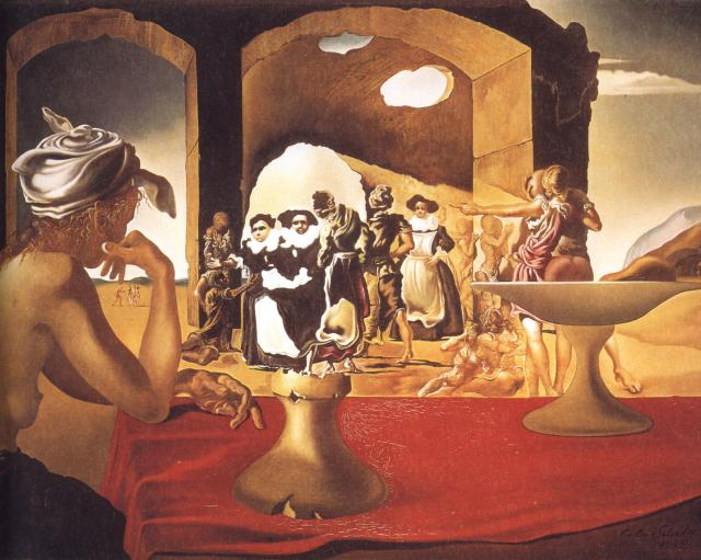 SALVADOR DALI – 1940 – 05 – Slave Market with the Disappearing Bust of Voltaire 1940
