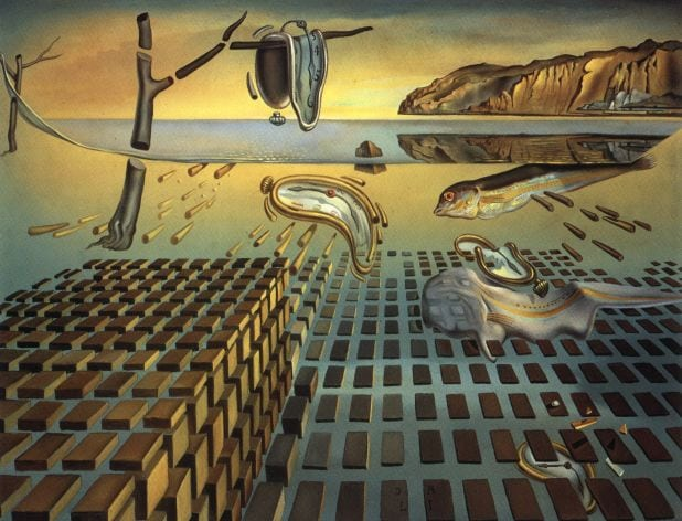 SALVADOR DALI – 1952 – 02 – The Disintegration of Persistence of Memory 1952-54