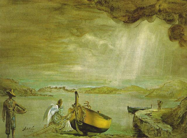 SALVADOR DALI – 1952 – 07 – The Angel of Port Lligat 1952