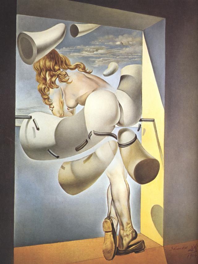 SALVADOR DALI – 1954 – 06 – Young Virgin Auto-Sodomized by Her Own Chastity 1954