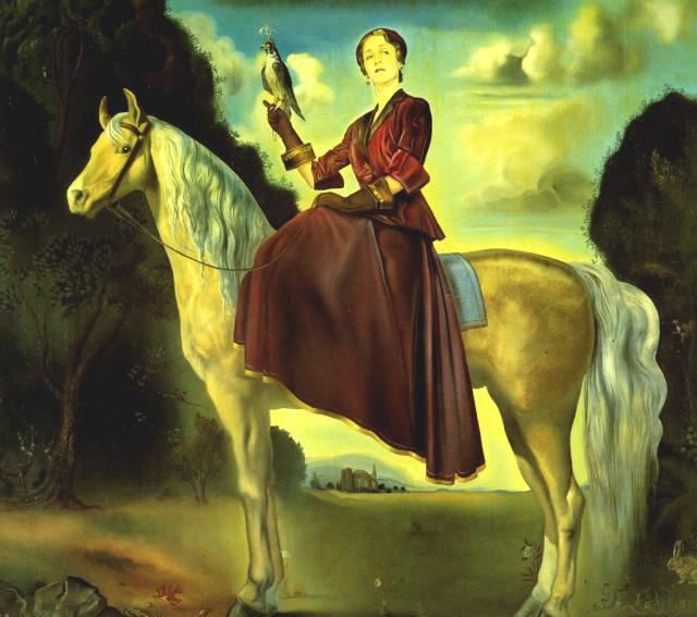 SALVADOR DALI – 1954 – 09 – Equestrian Fantasy – Portrait of Lady Dunn 1954