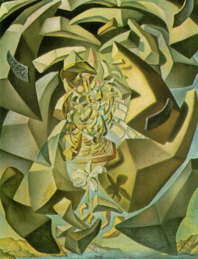 SALVADOR DALI – 1954 – 11 – Microphysical Madonna 1954