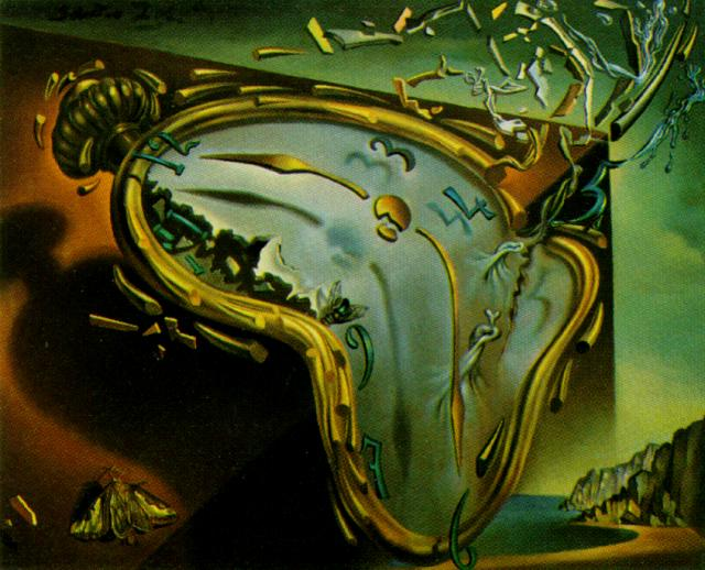 SALVADOR DALI – 1954 – 12 – Soft Watch at the Moment of First Explosion 1954