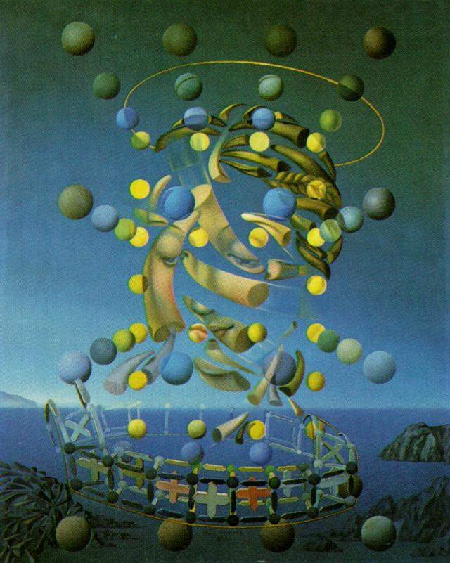 SALVADOR DALI – 1954 – 17 – The Maximum Speed of Raphael's Madonna 1954
