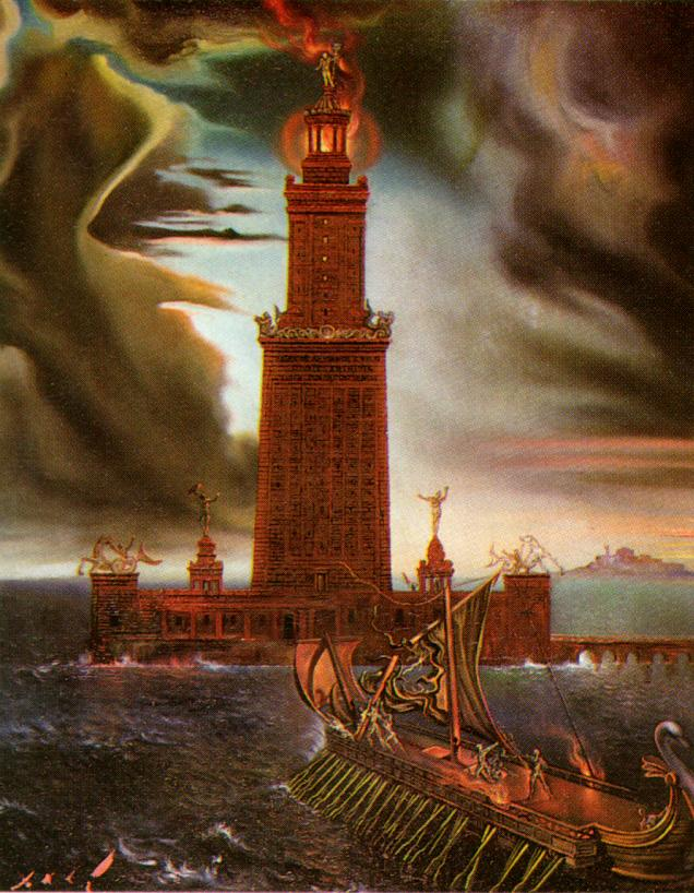 SALVADOR DALI – 1954 – 22 – The Lighthouse at Alexandria 1954