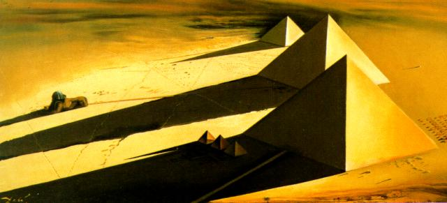SALVADOR DALI – 1954 – 24 – The Pyramids and the Sphynx of Gizeh 1954