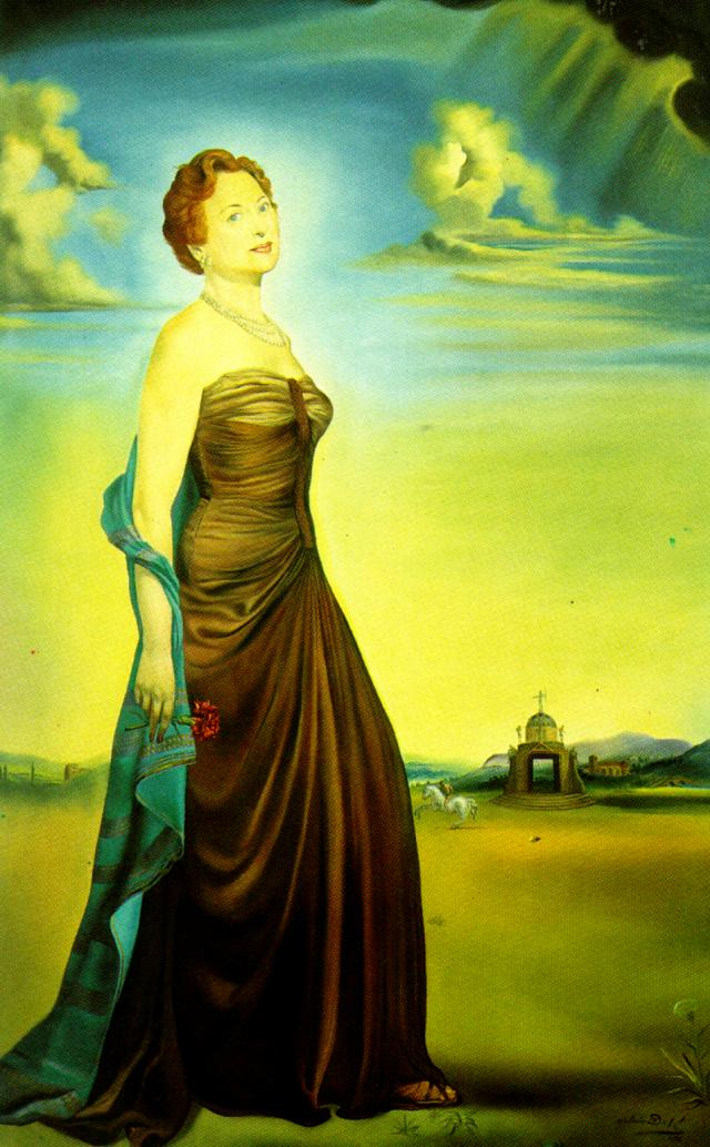 SALVADOR DALI – 1954 – 27 – Portrait of Mrs. Reeves 1954