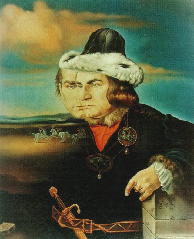 SALVADOR DALI – 1955 – 04 – Portrait of Laurence Olivier in the Role of Richard III 1955