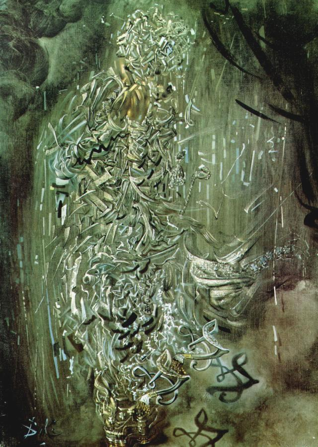 SALVADOR DALI – 1956 – 04 – Saint Surrounded by Three Pi-Mesons 1956