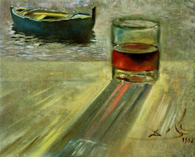 SALVADOR DALI – 1956 – 12 – Wine Glass and Boat 1956
