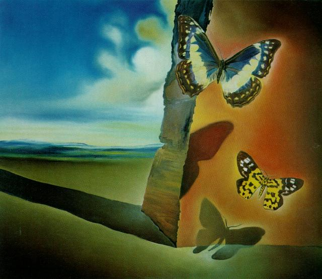SALVADOR DALI – 1956 – 13 – Untitled (Landscape with Butterflies) circa 1956