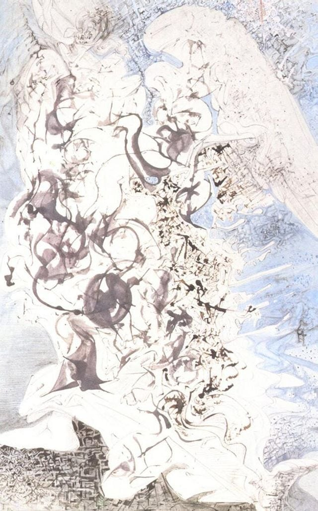 SALVADOR DALI – 1958 – 04 – Angel circa 1958
