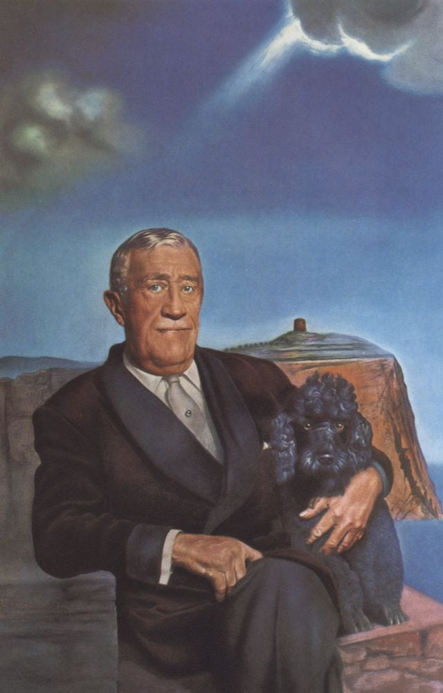 SALVADOR DALI – 1958 – 05 – Portraif of Chester Dale and His Dog Coco 1958