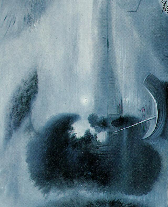SALVADOR DALI – 1958 – 15 – Detail from 'Moonlit Landscape with Accompaniment' 1958