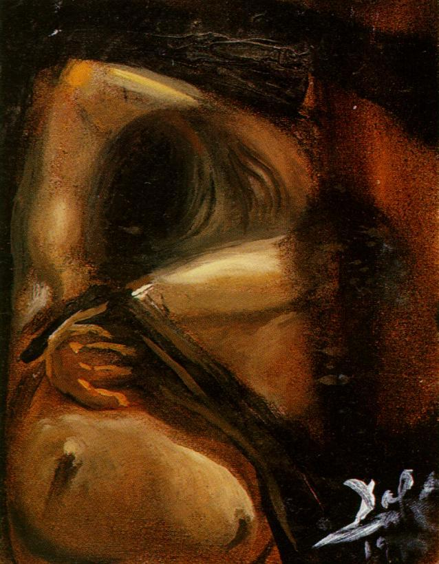 SALVADOR DALI – 1959 – 10 – Study for 'Woman Undressing' 1959