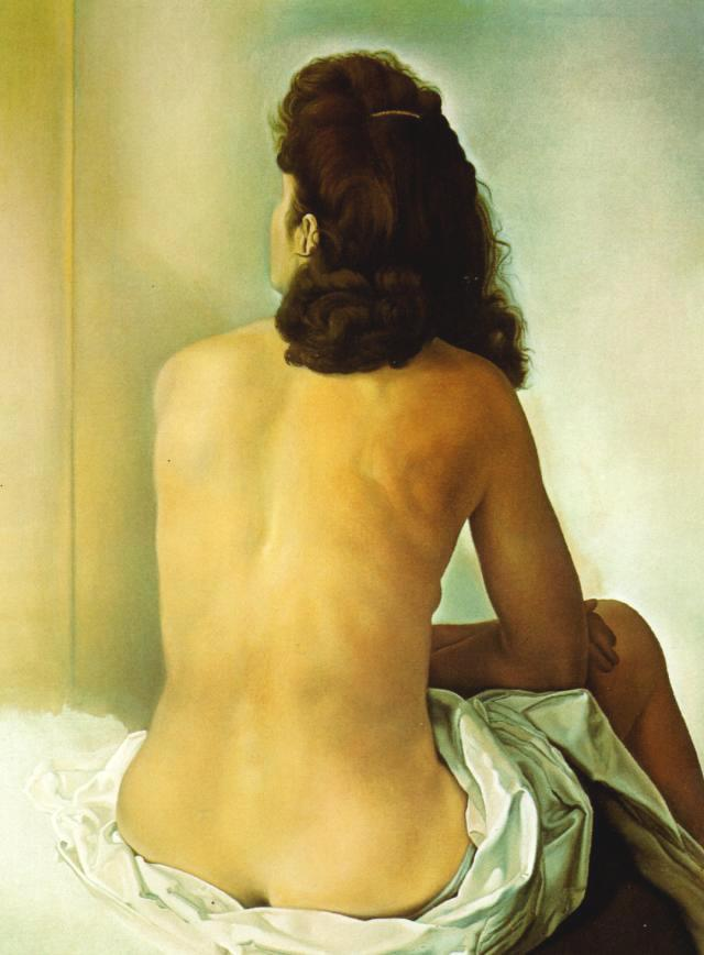 SALVADOR DALI – 1960 – 16 – Gala Nude From Behind Looking in an Invisible Mirror 1960