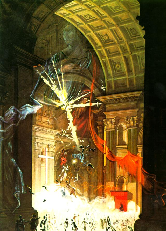 SALVADOR DALI – 1960 – 21 – St. Peter s in Rome (Explosion of Mystical Faith in the Midst of a Cathedral) 1960