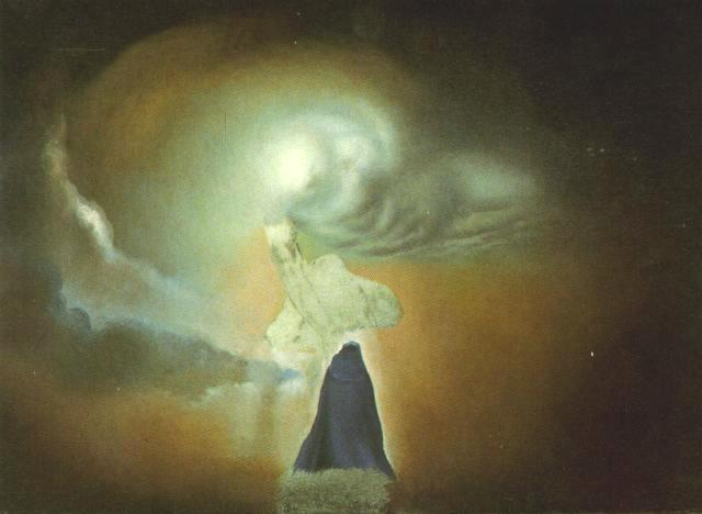 SALVADOR DALI – 1960 – 29 – Figure In the Shape of a Cloud circa 1960