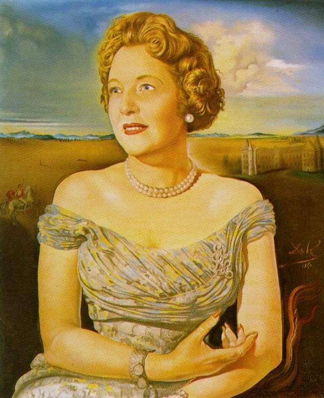SALVADOR DALI – 1960 – 35 – Portrait of Countess Ghislaine d'Oultremont 1960