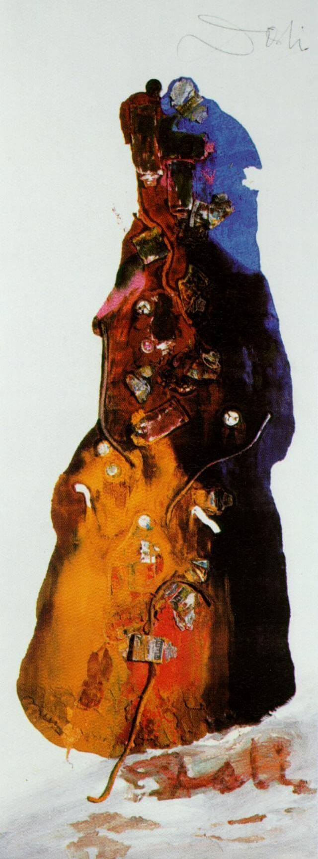 SALVADOR DALI – 1960 – 37 – Untitled (The Lady of Avignon) circa 1960
