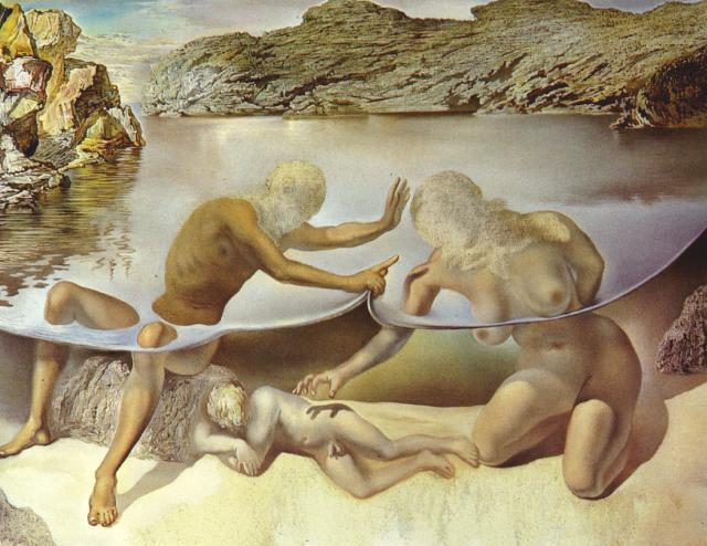 SALVADOR DALI – 1963 – 03 – Hercules Lifts the Skin of the Sea and Stops Venus for an Instant from Waking Love 1963
