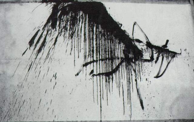 SALVADOR DALI – 1965 – 27 – Night in the Hotel (Abstract in Black and White) 1965